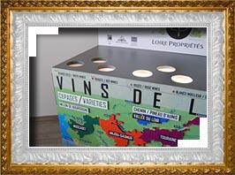 mobilier ludopédagogique pour découvrir l'univers des vins de loire