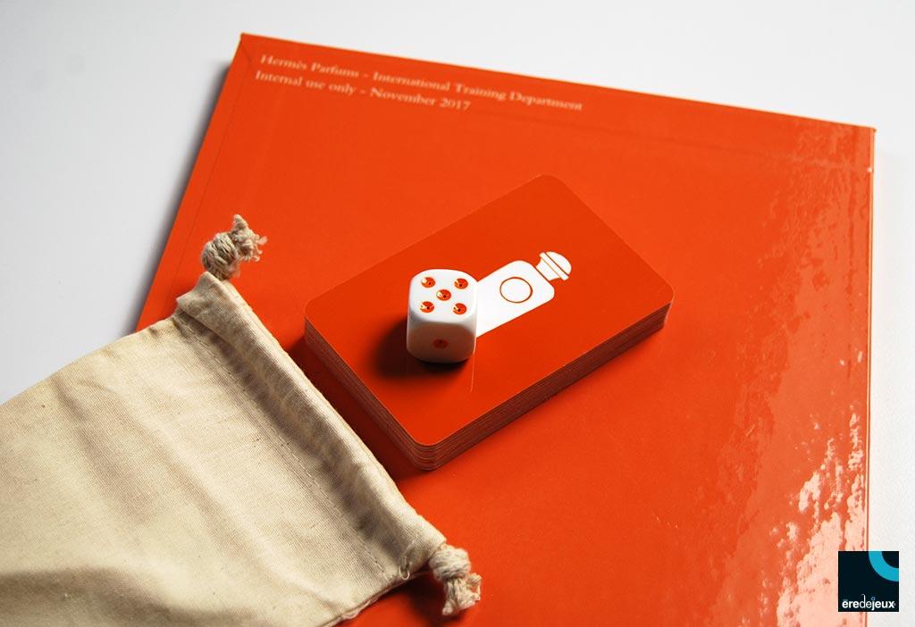 jeu de l'oie formation - plateau, cartes, dé et pochon