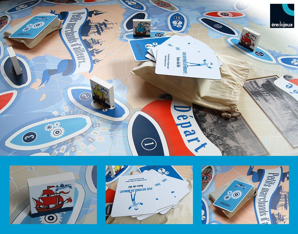 tapis de jeu XXL - marine marchande au XVIIe